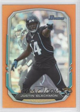 2013 Bowman Orange Rainbow Foil #42 - Justin Blackmon /50
