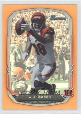 2013 Bowman Orange Rainbow Foil #80 - A.J. Green /50