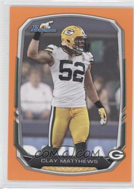2013 Bowman Orange #83 - Clay Matthews /50