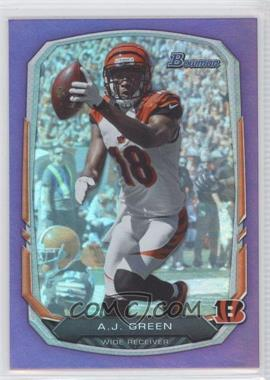 2013 Bowman Purple Rainbow Foil #80 - A.J. Green