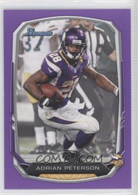 2013 Bowman Purple #1 - Adrian Peterson