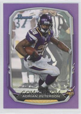2013 Bowman Purple #1 - Adrian Peterson