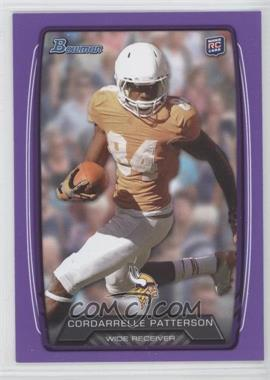 2013 Bowman Purple #171 - Cordarrelle Patterson
