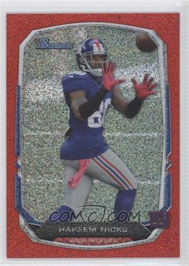 2013 Bowman Red Ice #56 - Hakeem Nicks /25