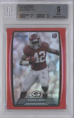 2013 Bowman Red Rainbow Foil #140 - Eddie Lacy /199 [BGS 9]