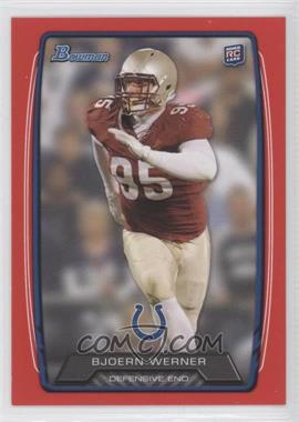 2013 Bowman Red #190 - Bjoern Werner /199