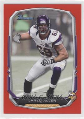 2013 Bowman Red #64 - Jared Allen /25