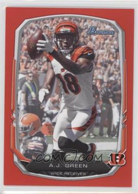 2013 Bowman Red #80 - A.J. Green /25