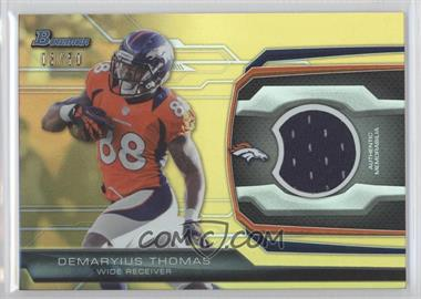2013 Bowman Relic Gold #BR-DT - Demaryius Thomas /50