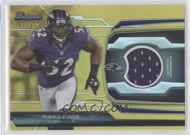 2013 Bowman Relic Gold #BR-RL - Ray Lewis /50