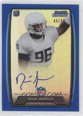 2013 Bowman Rookie Chrome Refractor Autograph Blue [Autographed] #RCRA-DJO - Dion Jordan /99
