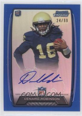 2013 Bowman Rookie Chrome Refractor Autograph Blue [Autographed] #RCRA-DR - Denard Robinson /99