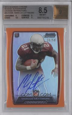 2013 Bowman Rookie Chrome Refractor Autograph Orange [Autographed] #RCRA-ML - Marcus Lattimore /50 [BGS 8.5]
