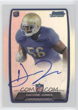 2013 Bowman Rookie Chrome Refractor Autograph #RCRA-DJ - Datone Jones