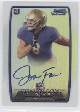 2013 Bowman Rookie Chrome Refractor Autograph #RCRA-JFA - Joseph Fauria