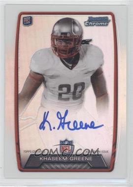 2013 Bowman Rookie Chrome Refractor Autograph #RCRA-KG - Khaseem Greene