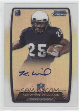 2013 Bowman Rookie Chrome Refractor Autograph #RCRA-KW - Kerwynn Williams
