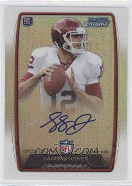 2013 Bowman Rookie Chrome Refractor Autograph #RCRA-LJO - Landry Jones