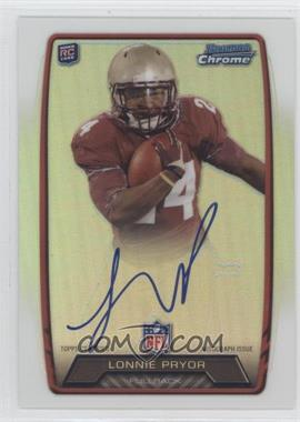 2013 Bowman Rookie Chrome Refractor Autograph #RCRA-LP - Lonnie Pryor