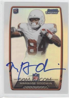 2013 Bowman Rookie Chrome Refractor Autograph #RCRA-MGO - Marquise Goodwin