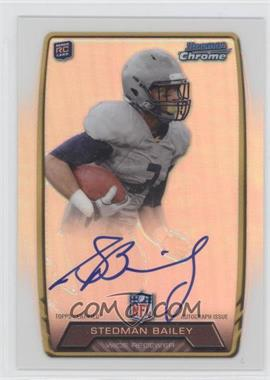 2013 Bowman Rookie Chrome Refractor Autograph #RCRA-SB - Stedman Bailey