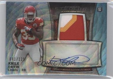 2013 Bowman Sterling Autograph Rookie Relics Blue Wave Refractor #BSAR-KD - Knile Davis /125