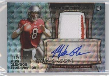 2013 Bowman Sterling Autograph Rookie Relics Blue Wave Refractor #BSAR-MG - Mike Glennon /125