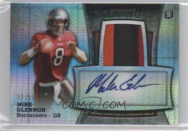 2013 Bowman Sterling Autograph Rookie Relics Prism Refractor #BSAR-MG - Mike Glennon /55
