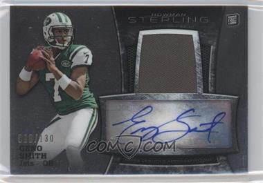 2013 Bowman Sterling Autograph Rookie Relics #BSAR-GS - Geno Smith /130