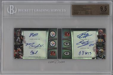 2013 Bowman Sterling Six Autographs #BSSA-5 - Landry Jones, Markus Wheaton, Giovani Bernard, Tyler Eifert, Eddie Lacy, Jonathan Franklin /10 [BGS9.5]
