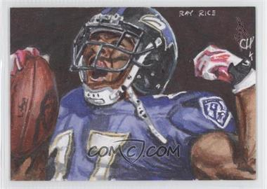 2013 Leaf Best of Football Sketch Cards #CHRR - Chris Henderson (Ray Rice) /1