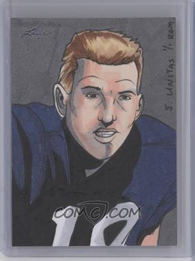 2013 Leaf Best of Football Sketch Cards #JURM - Johnny Unitas (Rich Molinelli) /1