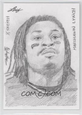 2013 Leaf Best of Football Sketch Cards #MLJP - Marshawn Lynch (Jay Pangan) /1
