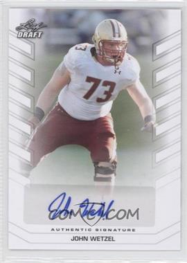 2013 Leaf Draft Autographs #BA-JW1 - John Wetzel