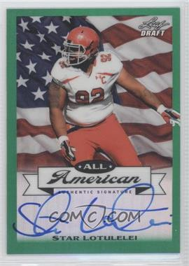 2013 Leaf Metal Draft - All-American - Green Prismatic #AA-SL1 - Star Lotulelei /10