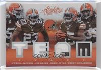 D'Qwell Jackson, Greg Little, Joe Haden, Trent Richardson /25