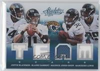 Justin Blackmon, Marcedes Lewis, Maurice Jones-Drew, Blaine Gabbert /99