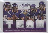 Adrian Peterson, Chad Greenway, Christian Ponder, Kyle Rudolph /99