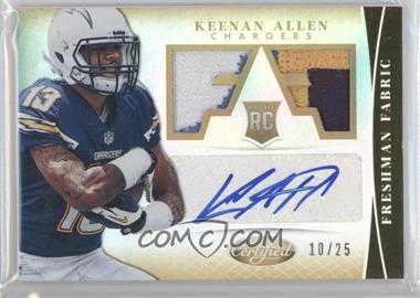 2013 Panini Certified - [Base] - Mirror Gold #317 - Freshman Fabric Signatures - Keenan Allen /25