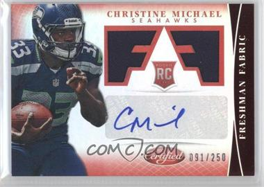 2013 Panini Certified - [Base] - Mirror Red #303 - Freshman Fabric Signatures - Christine Michael /250