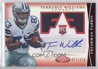 Freshman Fabric Signatures - Terrance Williams /250