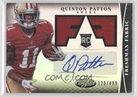 Freshman Fabric Signatures - Quinton Patton /499
