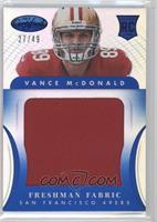 Freshman Fabric Jumbo - Vance McDonald /49
