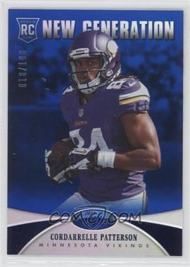 2013 Panini Certified Mirror Blue #216 - New Generation - Cordarrelle Patterson /100