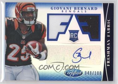 2013 Panini Certified Mirror Blue #312 - Freshman Fabric Signatures - Giovani Bernard /100