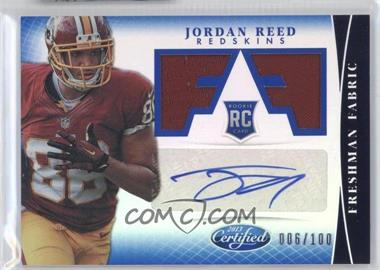 2013 Panini Certified Mirror Blue #314 - Freshman Fabric Signatures - Jordan Reed /100