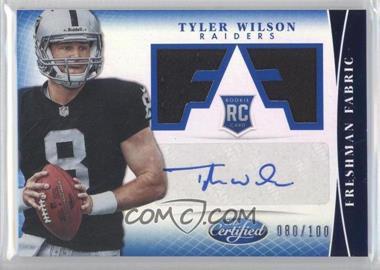 2013 Panini Certified Mirror Blue #338 - Freshman Fabric Signatures - Tyler Wilson /100