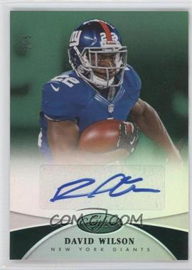 2013 Panini Certified Mirror Emerald Signatures [Autographed] #120 - David Wilson /5