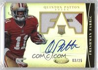 Freshman Fabric Signatures - Quinton Patton /25