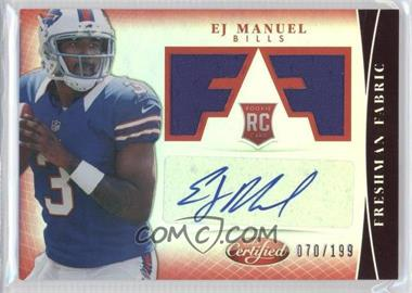 2013 Panini Certified Mirror Red #309 - EJ Manuel /199